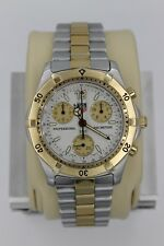 Tag Heuer 2000 CK1121.BB0329 GOLD WHITE Professional Watch Mens Chronograph