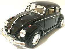 "Kinsmart 1967 Volkswagen VW Classical Beetle 1:32 scale 5"" diecast Black"