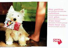 PUBLICITE ADVERTISING  016  1993  DIM  culottes sous vetements  (2p) pockets