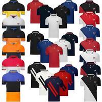 Mens Short Sleeve Big Tipping Striped Polo Shirt T Shirt Cotton Pique Horse Top