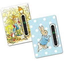 Twin Pack - Peter Rabbit Nursery and Room Thermometer for Baby/Child (2 designs)