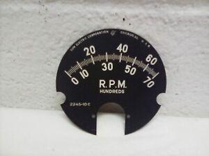 NORS 1960's Vintage Sun Instruments 2245-10c Tachometer Face 7000 RPM NICE!