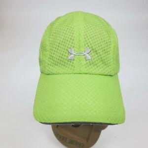 Under Armour Green Mesh Running Training Tennis Hat Adjustable Cap Women's