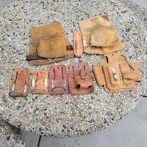 8 Piece Lot Leather Tool Pouch Belt Holster Hammer Holder Nicholas CNC Craftsman