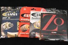 Lot of 4 Misc. Gamma Tennis String Sets. 16g  ESP, Syn.Gut, ZO, Prodigy