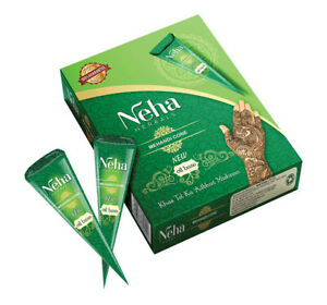 Neha Mehandi Natural Herbal Heena Mehandi Oil Base Cones