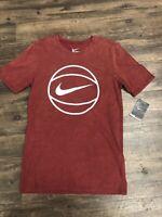 NIKE Men's Apparel Summer Wash Burgundy Old Fashion T Shirt Size L NEW  NWT