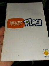 BOOKLET/MANUAL ONLY FOR EYE TOY PLAY  PS2 (NO GAME) -  FREE POST