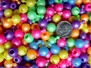 Pop Snap It Novelty Beads 10mm 144pc Multi Pearl Colors made in USA