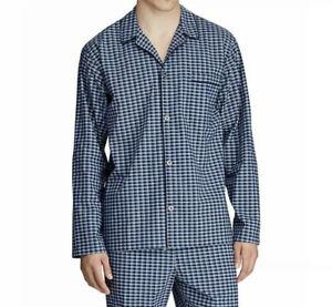 Men's Polo Ralph Lauren Stretch Button-Front Long Sleeve Pajama Sleep Shirt