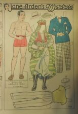 Jane Arden Sunday with Large Uncut Paper Doll from 9/9/1934 Full Size Page!