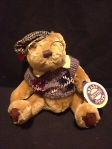HANDCRAFTED BRASS BUTTON BEARS SHERWOOD THE BEAR OF LONG LIFE FULLY JOINTED