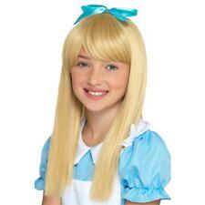Wonderland Alice Princess Wig Girls Fairytale Fancy Dress Blonde Wig