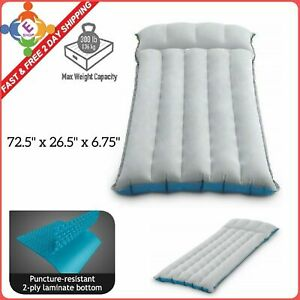 Intex Inflatable Airbed Camping Mattress Twin Size Thin Air Bed Sleeping Folding