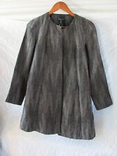 Eileen Fisher Swing Jacket-Linen Silk Herringbone Shadow-Surplus-Sz XXS-NWT $448