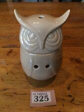 Oil Burner Beige Ceramic Owl Oil Tea Light Burner