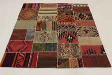 Nomaden Kelim Patchwork Antik Look fein Perser Teppich Orientteppich 2,00 X 1,80