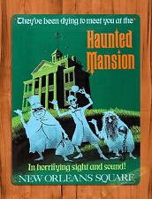 TIN-UPS Tin Sign Haunted Mansion New Orleans Square Walt Disney Ride Art Poster