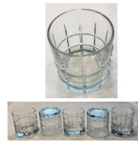 VINTAGE Anchor Hocking Drinking Glasses 9 oz. TARTAN Heavy 5-Piece Set