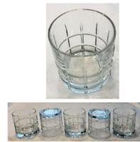 VINTAGE Anchor Hocking Drinking Glasses 9 oz. TARTAN Heavy 5-Piece Set
