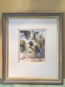 June Morgan House Under The Blue Sky Framed Oil Painting