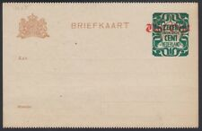 NETHERLANDS, 1921. Post Card  H&G 136c Perf, Mint