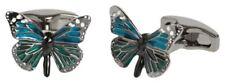 Butterfly Cufflinks - Blue/Jade Green/Silver Simon Carter Mens English Garden