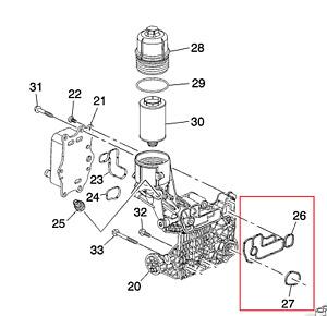 Genuine Oil cooler Seal 93745803 Holden Cruze 2.0 Z20D Captiva Z22D 2.2L Diesel