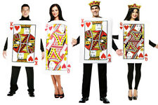 NEW Ladies Queen of Hearts Costume Adults Alice Playing Cards Fancy Party DRESS