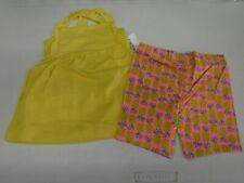 BABY GIRL CARTER'S SIZE 18 MONTHS YELLOW TANK PINEAPPLE SHORTS SET NEW #14133