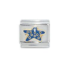 Azul Estrella de mar encanto italiano-se adapta a 9mm Zoppini, nominación pulseras