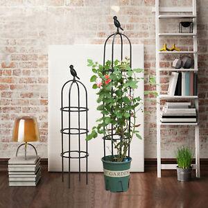 Trellis Shelf Plant Support Frame Vines Garden Tomatoes Steel Climbing Vine Rack