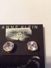 Anne Klein Square   Rose Gold Tone Crystal Stud Earrings $ 22 Item 110
