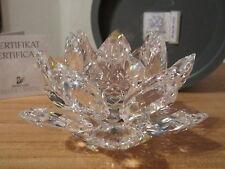 SWAROVSKI *NEW* Nénuphar bougeoir Waterlily Candleholder 010001 D.10,5cm H.6,5cm