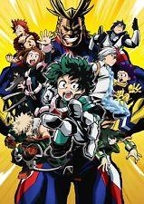 My Hero Academia Art Poster Izuku Midoriya All Might - NEW - 11x17 13x19