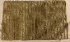 """Pottery Barn Honeycomb Pillow Cover Driftwood Brown 16"""" x 26"""" Zip Closure"""