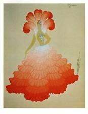 """1978 impresión de Art Deco Vintage ERTE """"rubias d'espagne Disfraz"""" moda placa de libro"""