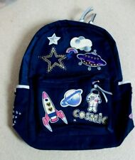 ACCESSORIZE NAVY BACKPACK  OUTER SPACE THEME NEW