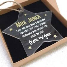Personalised Star Teacher Gift - End of Year Gift - Special Teacher