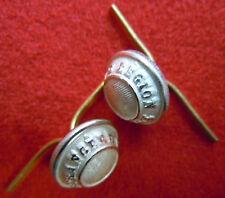 lot de 2 Boutons argent Képi Légion Etrangère Cavalerie REC ORIGINAL Jugulaire