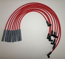 PONTIAC 1974-1981 265,301,350,400,455 HEI 8mm Red SPIRAL CORE SPARK PLUG WIRES