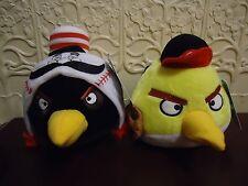 TWO MLB Cincinnati Reds Angry Birds Baseball Plush NWT 2 Black & Yellow Birds