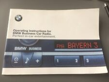 BMW 3 SERIES E46 BUSINESS RADIO CASSETTE OWNERS INSTRUCTION MANUAL HANDBOOK M3