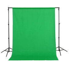 1.5 x 3m Green Cotton Muslin Cloth Photography Backdrop Background Studio Sheet