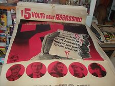 I 5 Gesichter Dell'Assassin Manifesto 2F originale1961