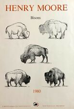 """Henry Moore """"Bisons"""" Lithograph Poster"""