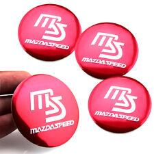 4 56mm 2.2'' Red MS Emblem Car Wheel Center Hub Cap Badge Sticker for MazdaSpeed