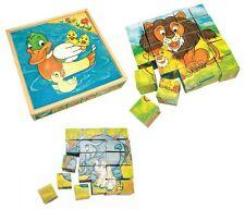 Puzzle a cubi grande 25 dadi leone giraffa scimmia elefante anatra tartaruga