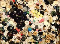 BUTTONS! HUGE Lot TWELVE POUNDS Vintage Sewing Buttons 12lb Estate Mix  12PD8