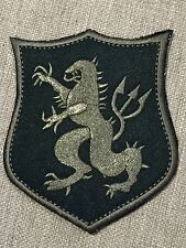 Navy SEAL TEAM DEVGRU GOLD SQUADRON ST6 BLK/GREY Armor Shield Lion Embroid Patch